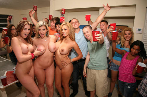 Pornstar Party At A House Party - BangBros/ DormInvasion (2012/ HD 720p)