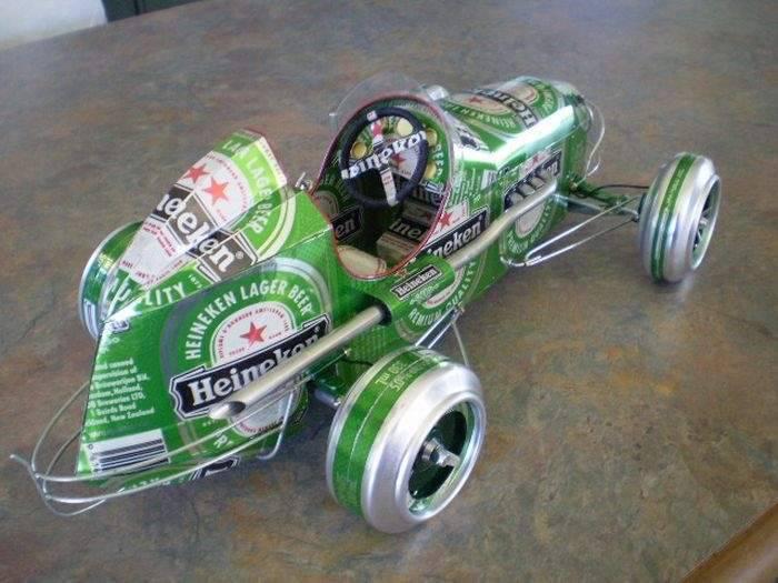 Modele samochodów z aluminiowych puszek 13