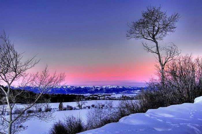 Góry w zimowej scenerii 19