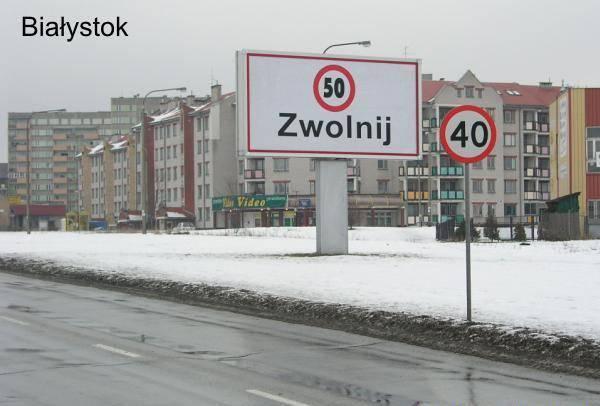 Znaki drogowe i tablice informacyjne 58