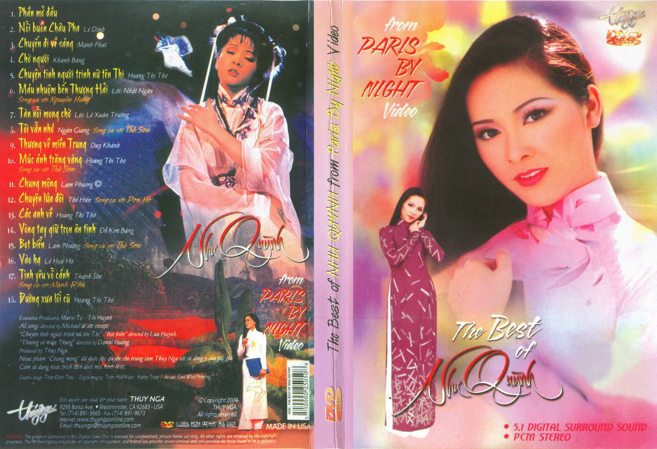 The Best of Như Quỳnh 1 – From Paris By Night DVD ISO