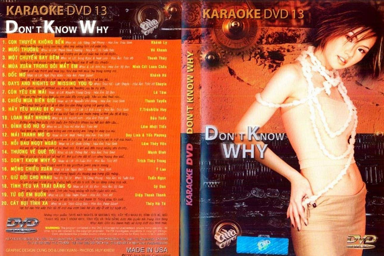 "ASIA 13 Karaoke "" I Don't Know Why "" DVD9"