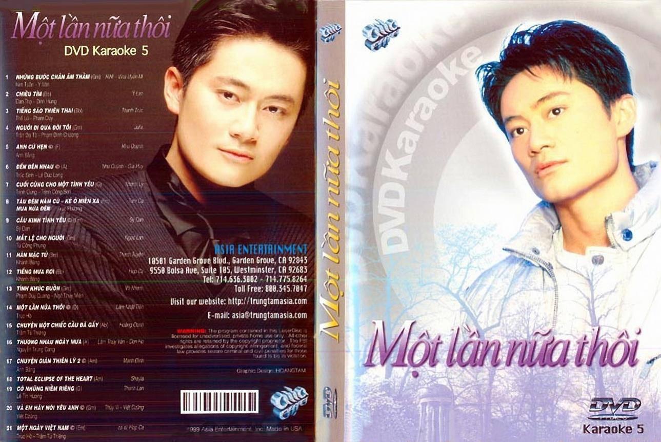"""ASIA 05 Karaoke """" Một Lần Nữa Thôi """" DVD9"""