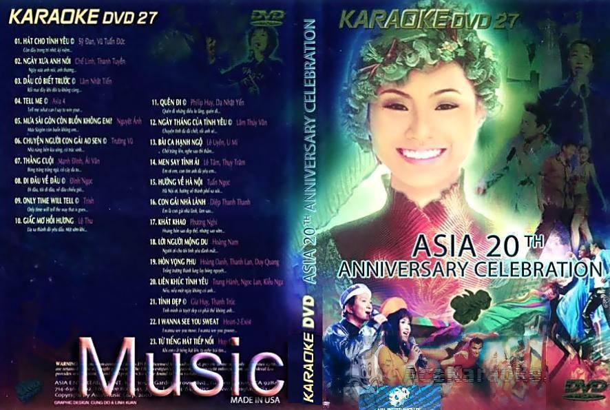 "ASIA 27 Karaoke "" Asia 20th Anniversary Celebration "" DVD5"
