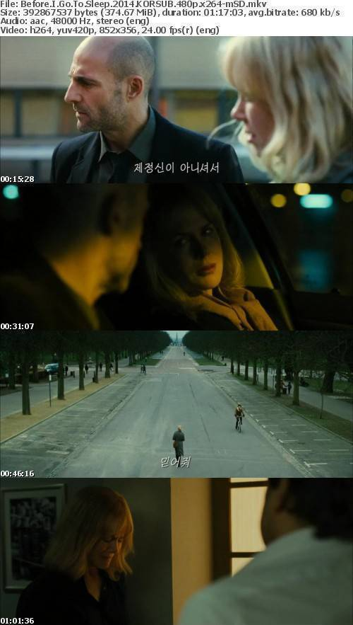 Download Before I Go To Sleep 2014 KORSUB 480p x264-mSD