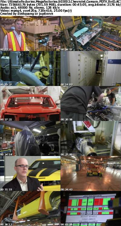 National Geographic - Ultimate Factories S03E02 Chevrolet Camaro (2007) PDTV XviD AC3-ViLD