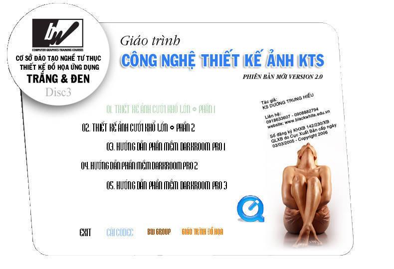 Giáo trình Photoshop của KS Dương Trung Hiếu 32VCD và 2DVD