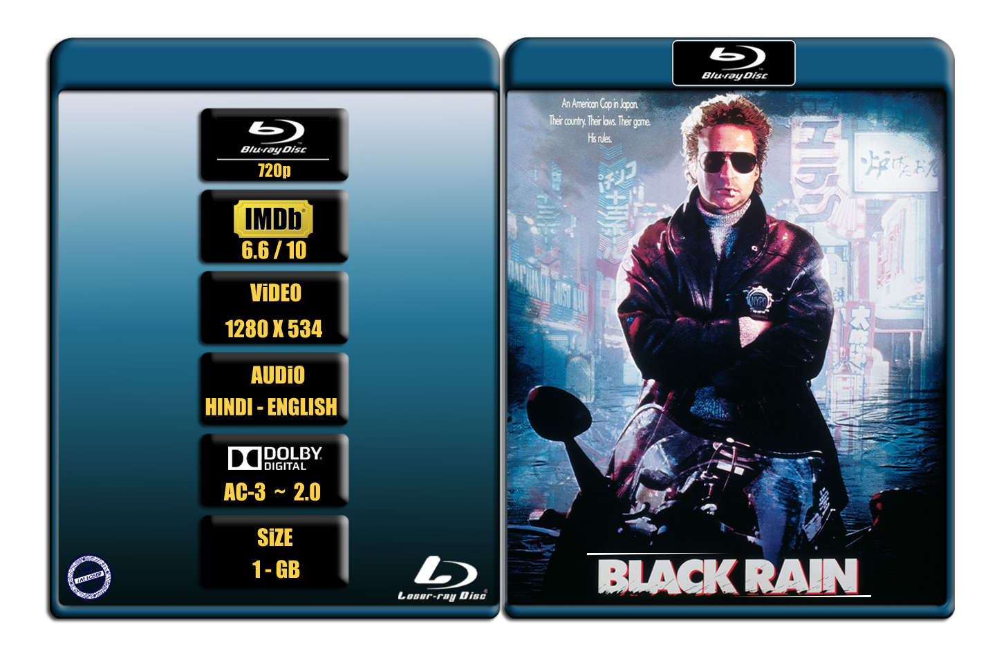 Black Rain (1989) 720p BR Rip x264 [HINDI – ENG] ® Im Loser ® 1.0 GB