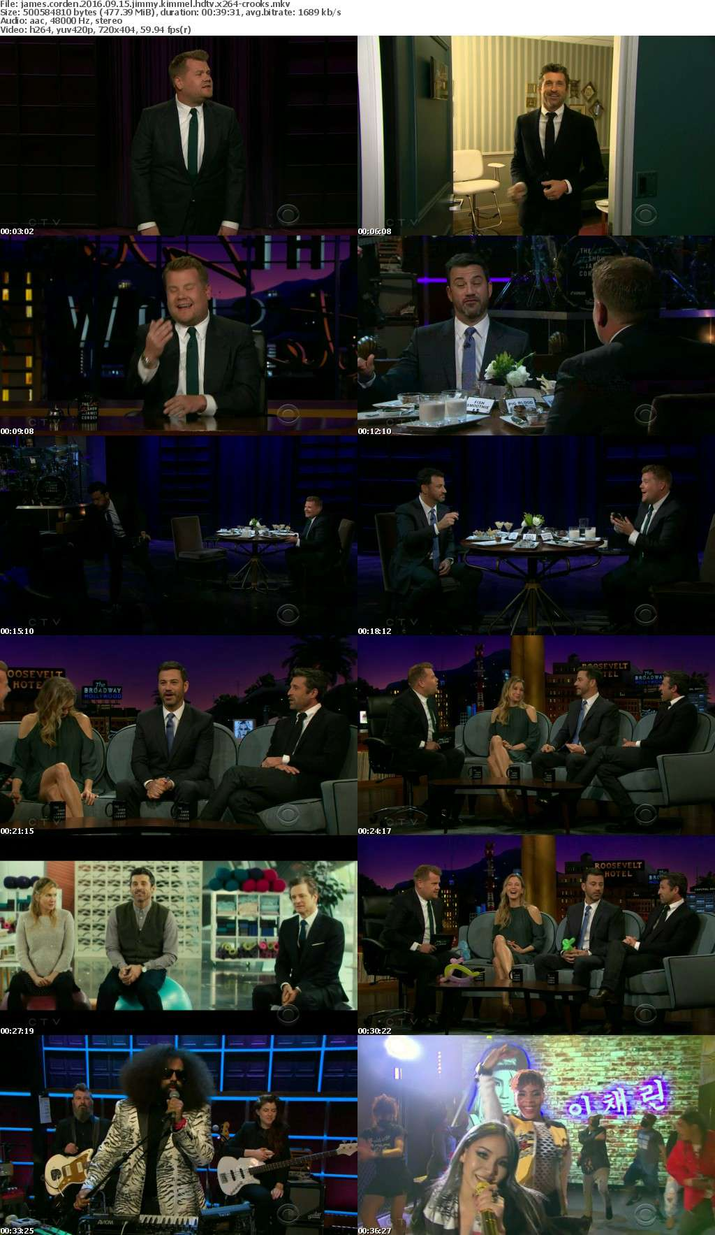 James Corden 2016 09 15 Jimmy Kimmel HDTV x264-CROOKS