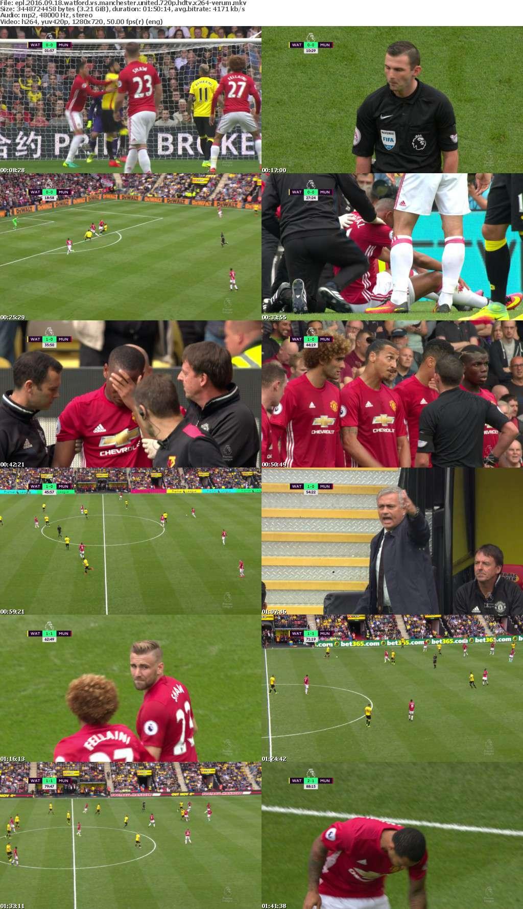 EPL 2016 09 18 Watford vs Manchester United 720p HDTV x264-VERUM