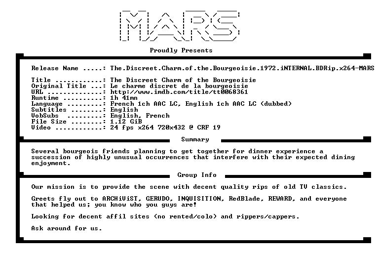 The Discreet Charm of the Bourgeoisie 1972 iNTERNAL BDRip x264-MARS