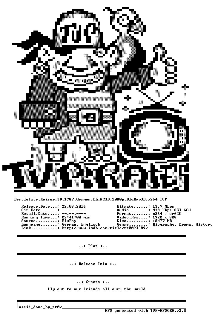 Der letzte Kaiser 3D 1987 German DL AC3D 1080p BluRay3D x264-TVP