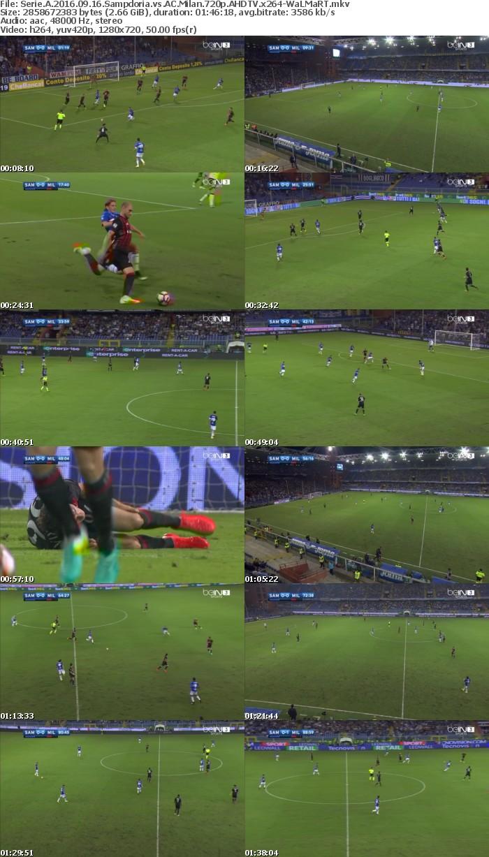 Serie A 2016 09 16 Sampdoria vs AC Milan 720p AHDTV x264-WaLMaRT