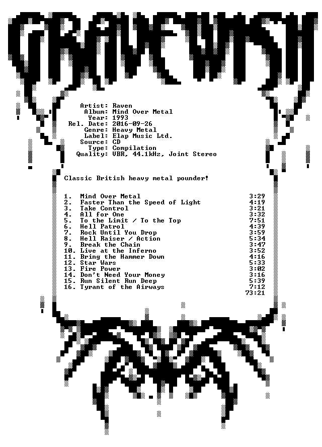 Raven-Mind Over Metal-1993-GRAVEWISH