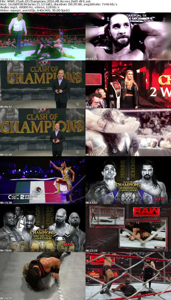 WWE Clash Of Champions 2016 All Access XviD-AFG