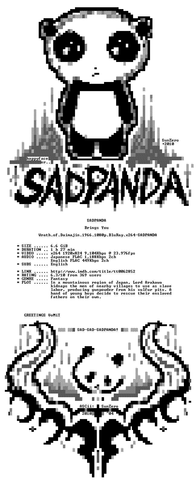 Wrath of Daimajin 1966 1080p BluRay x264-SADPANDA