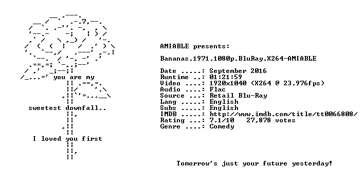 Bananas 1971 1080p BluRay X264-AMIABLE