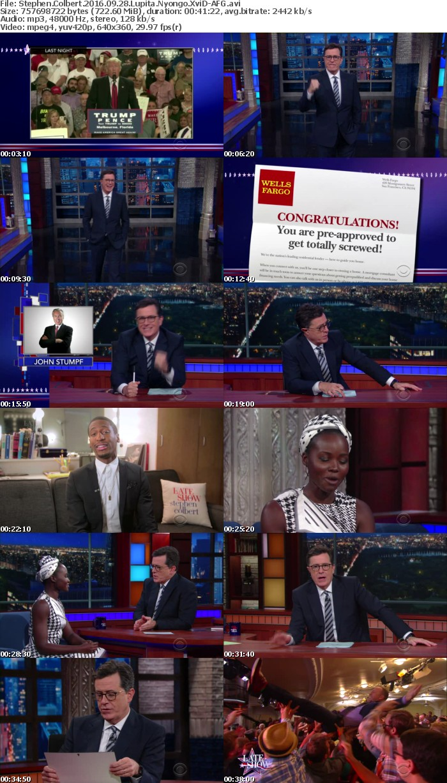 Stephen Colbert 2016 09 28 Lupita Nyongo XviD-AFG