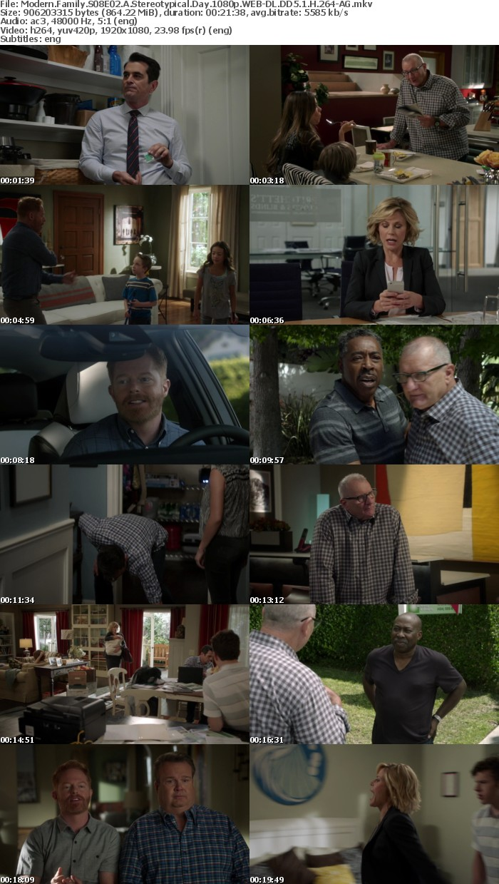 Modern Family S08E02 A Stereotypical Day 1080p WEB-DL DD5 1 H 264-AG