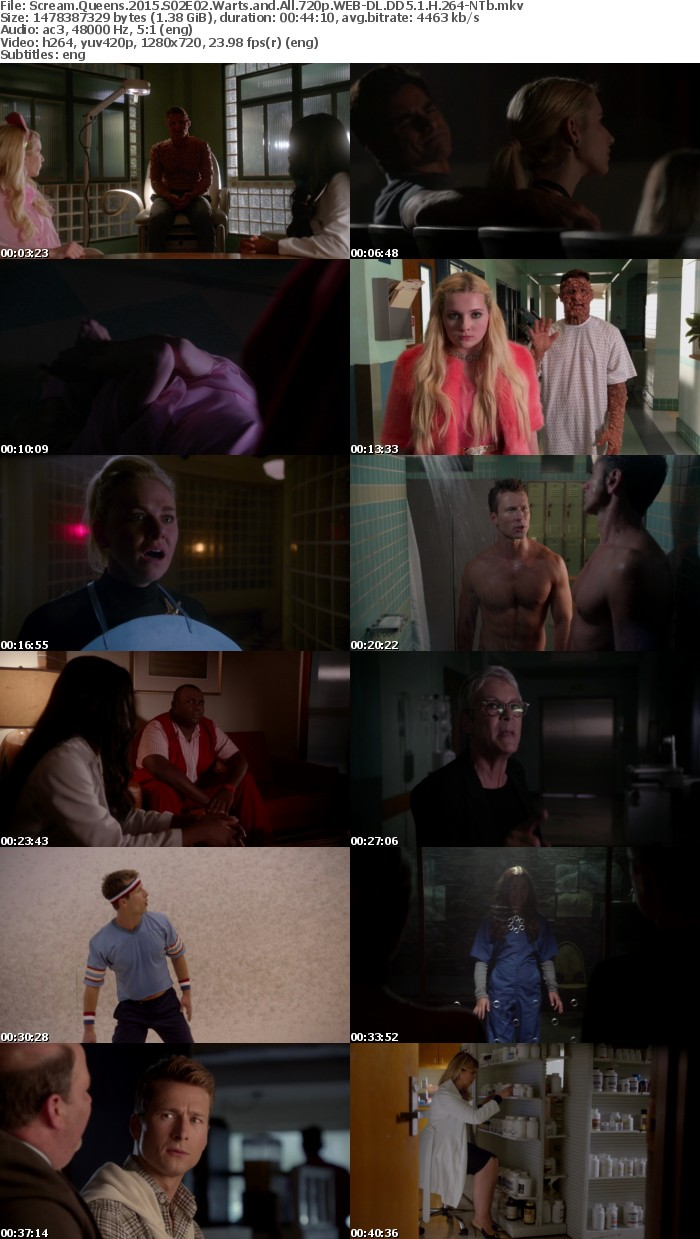 Scream Queens 2015 S02E02 Warts and All 720p WEB-DL DD5 1 H 264-NTb