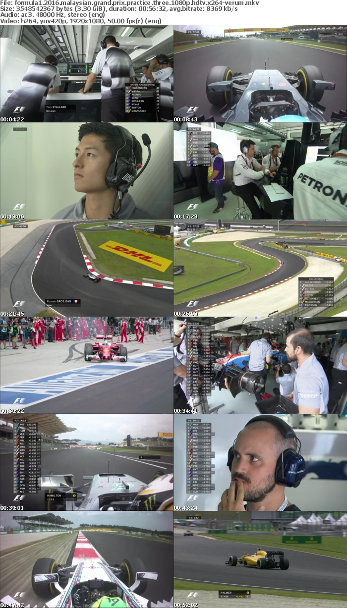 Formula1 2016 Malaysian Grand Prix Practice Three 1080p HDTV x264-VERUM