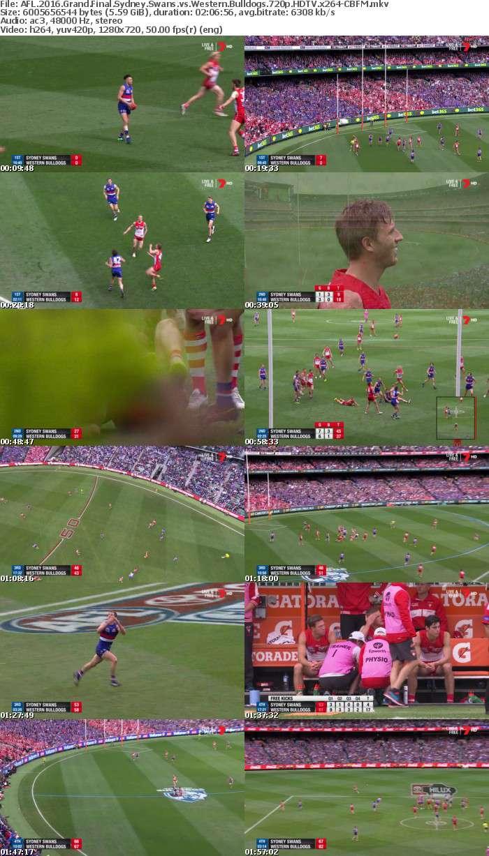 AFL 2016 Grand Final Sydney Swans vs Western Bulldogs 720p HDTV x264-CBFM