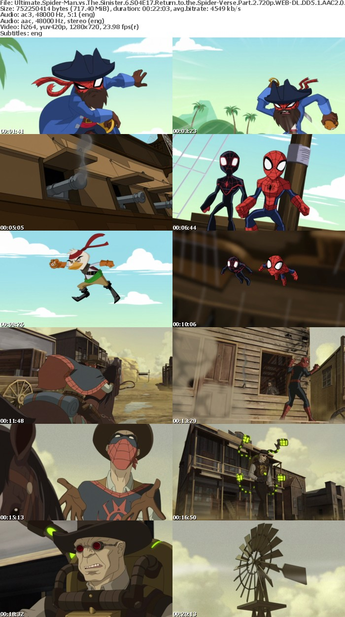 Ultimate Spider-Man vs The Sinister 6 S04E17 Return to the Spider-Verse Part 2 720p WEB-DL DD5 1 AAC2 0 H 264-YFN