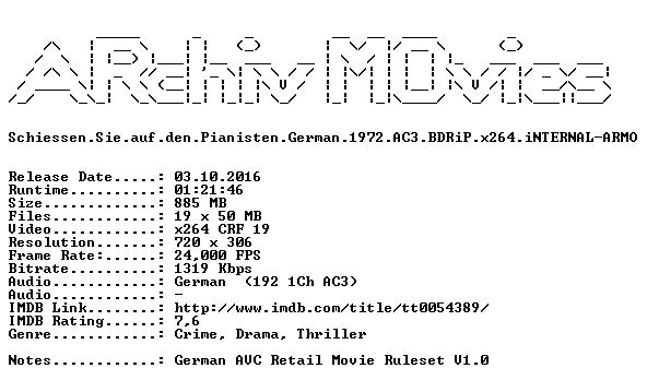 Schiessen Sie auf den Pianisten German 1972 AC3 BDRiP x264 iNTERNAL-ARMO