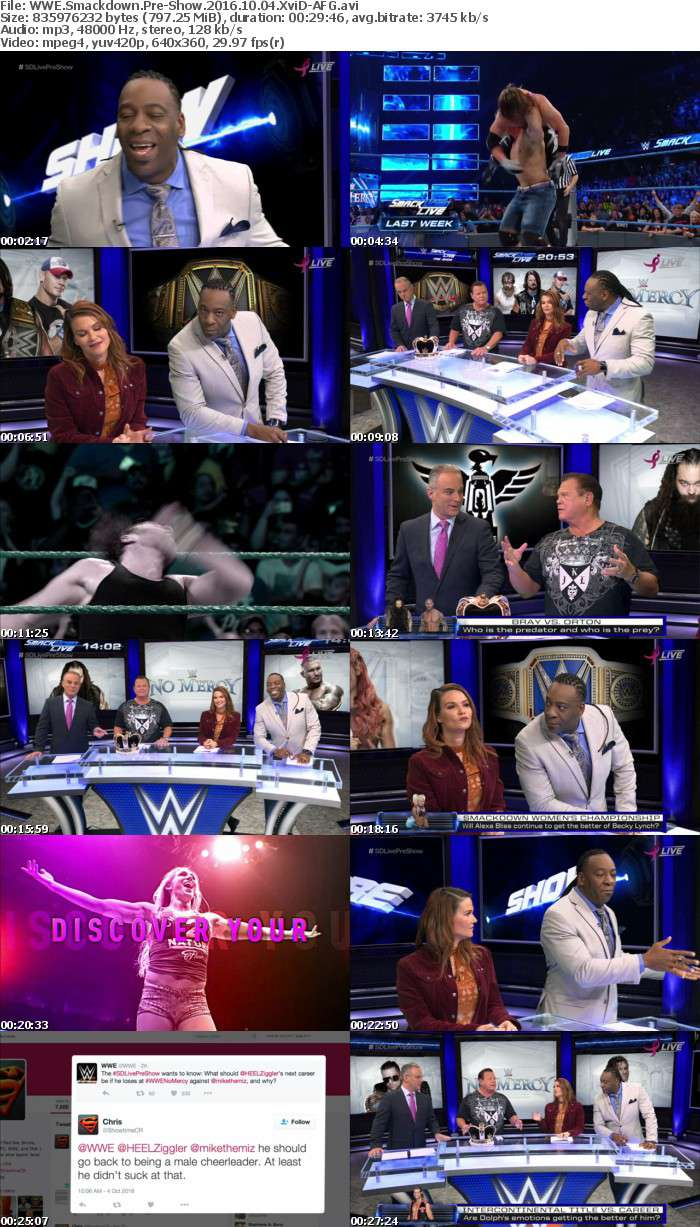 WWE Smackdown Pre-Show 2016 10 04 XviD-AFG
