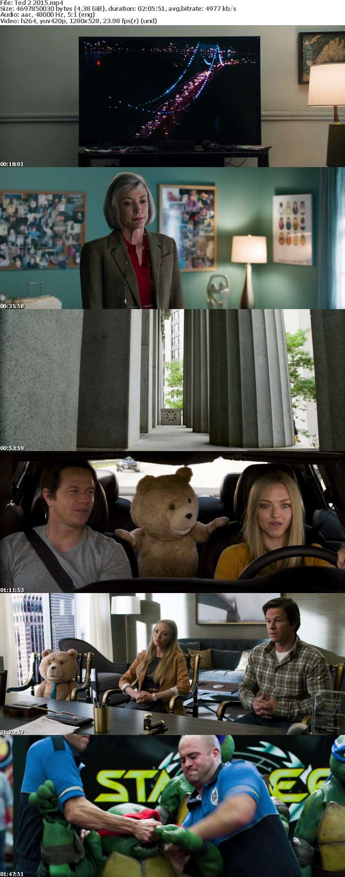 Ted 2 2015 Unrated Extended BRRIP 720p x264 AAC INFERNO
