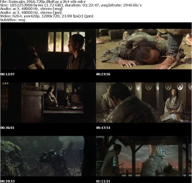 Daimajin 1966 720p BluRay x264-x0r