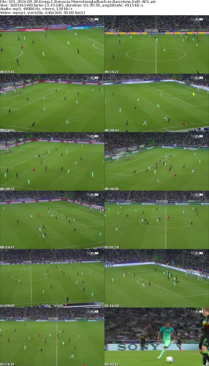 UCL 2016 09 28 Group C Borussia Moenchengladbach vs Barcelona XviD-AFG