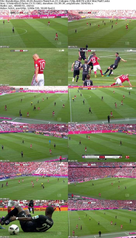 Bundesliga 2016 10 01 Bayern Munich vs FC Cologne 720p AHDTV x264-WaLMaRT