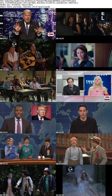 Saturday Night Live S42E02 Lin Manuel Miranda WEBRip x264 FUM
