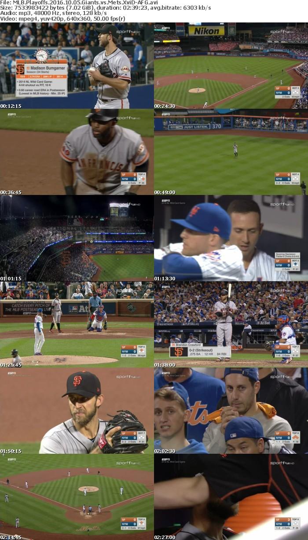 MLB Playoffs 2016 10 05 Giants vs Mets XviD-AFG