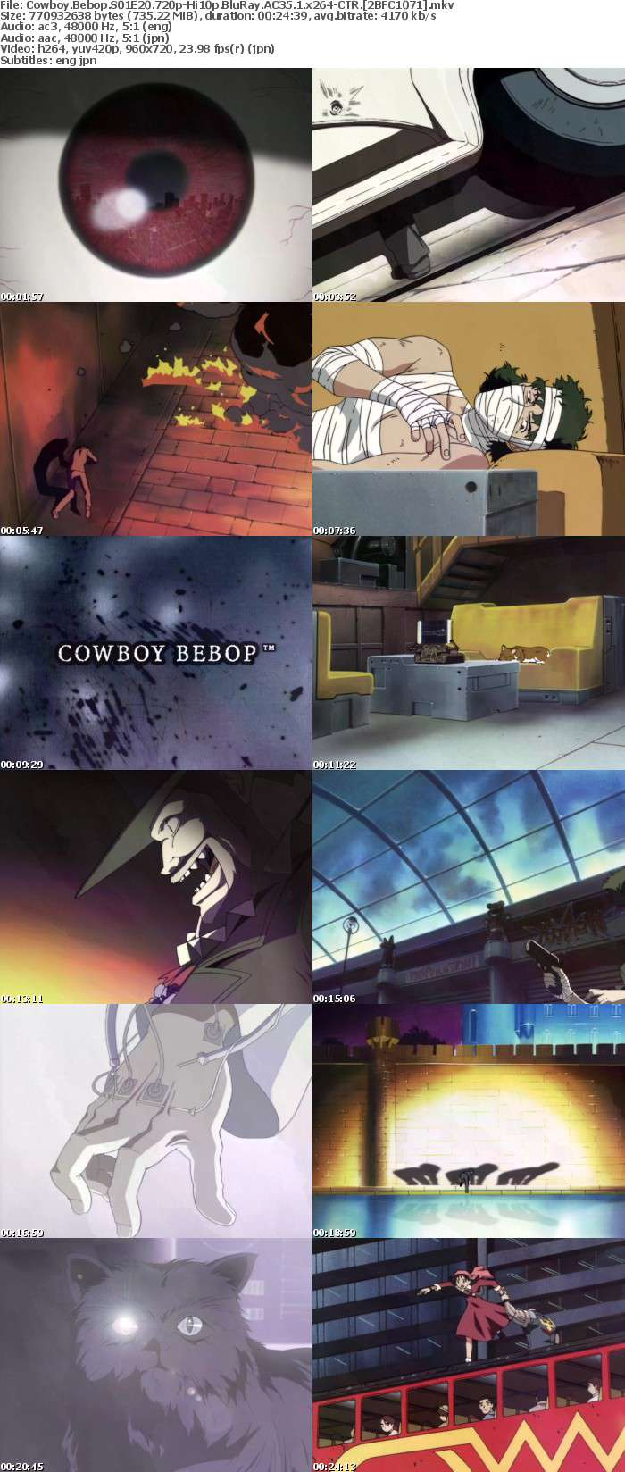 [CTR] Cowboy Bebop S01 Movie [720p Hi10 BluRay AC3 5 1 x264]