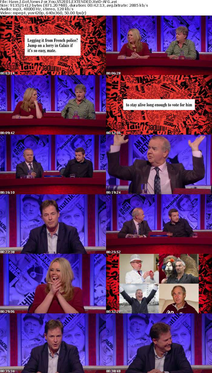 Have I Got News For You S52E01 EXTENDED XviD-AFG
