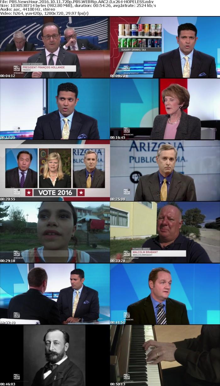 PBS NewsHour 2016 10 11 720p PBS WEBRip AAC2 0 x264 HOPELESS