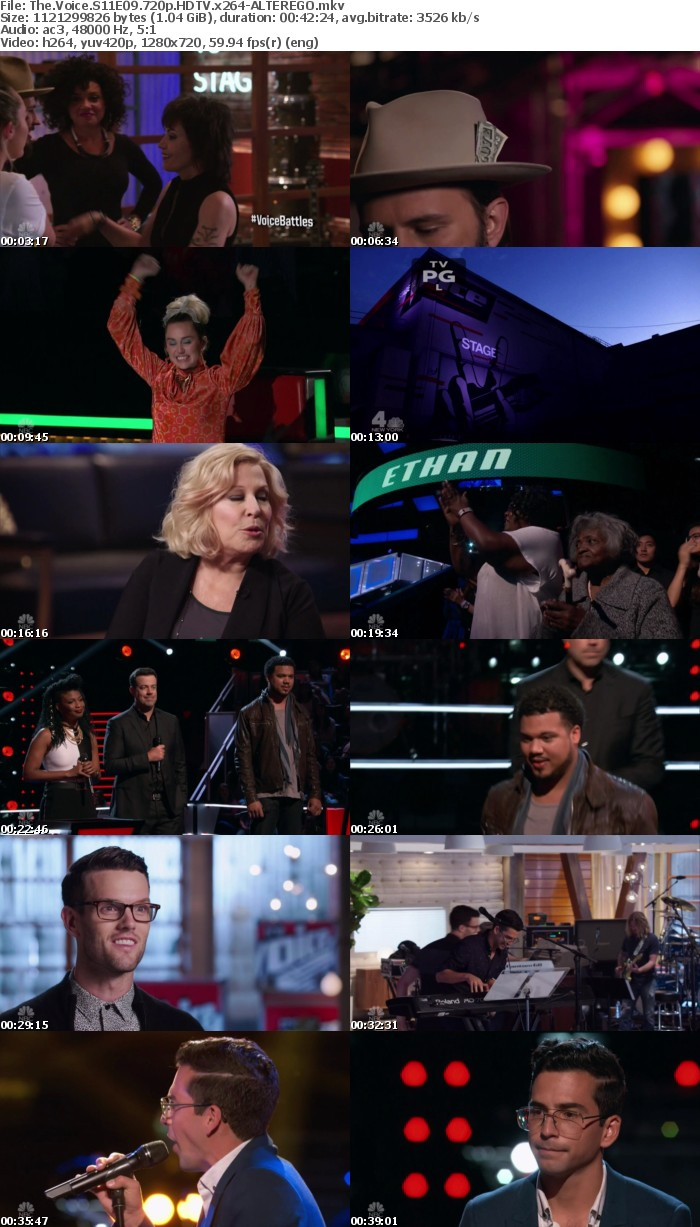 The Voice S11E09 720p HDTV x264-ALTEREGO