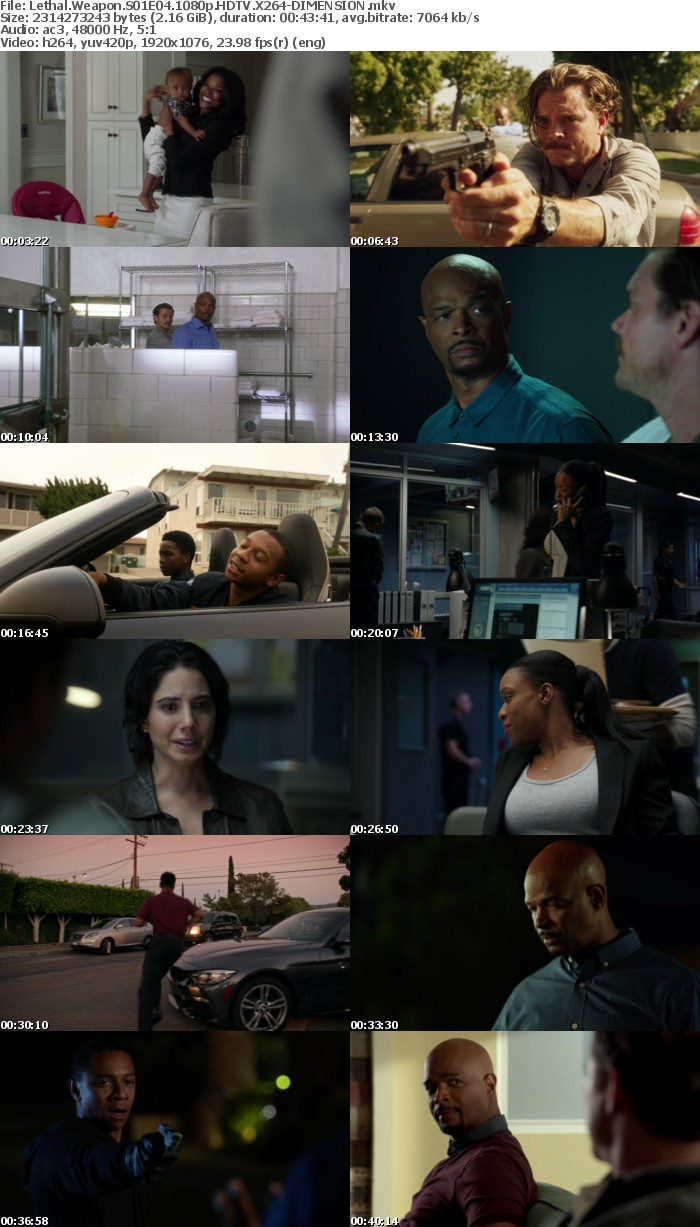 Lethal Weapon S01E04 1080p HDTV X264-DIMENSION