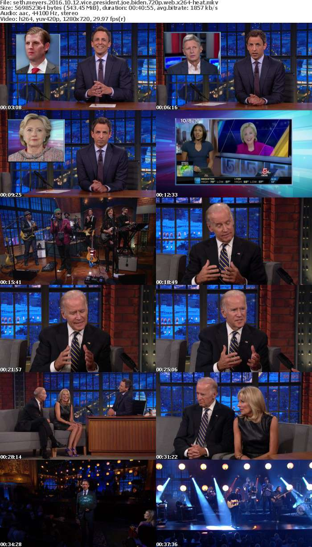 Seth Meyers 2016 10 12 Vice President Joe Biden 720p WEB x264-HEAT
