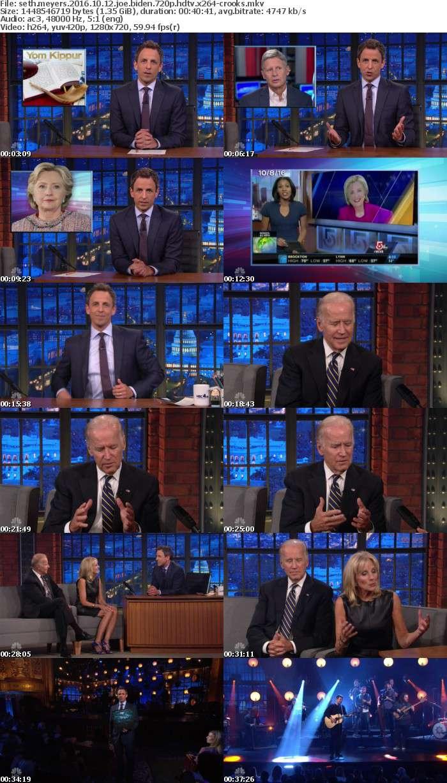 Seth Meyers 2016 10 12 Joe Biden 720p HDTV x264-CROOKS