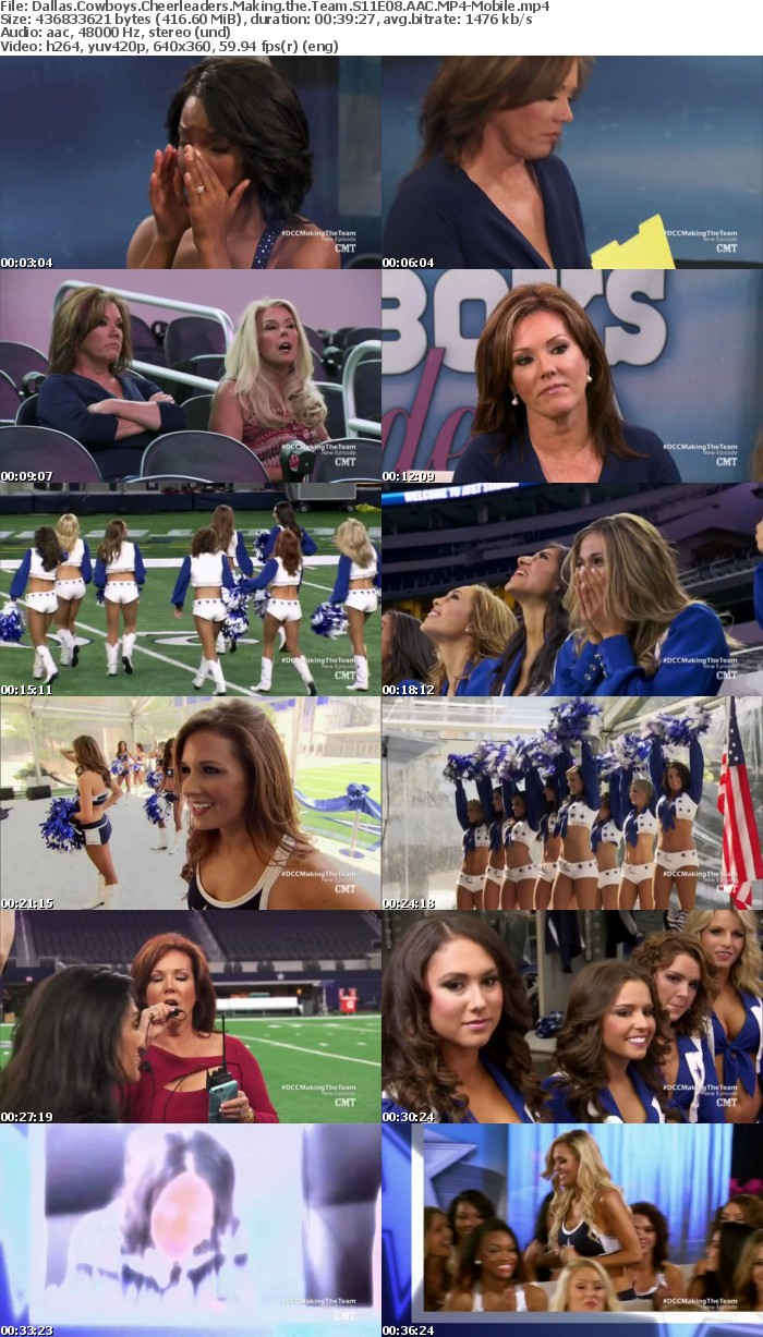 Dallas Cowboys Cheerleaders Making the Team S11E08 AAC-Mobile