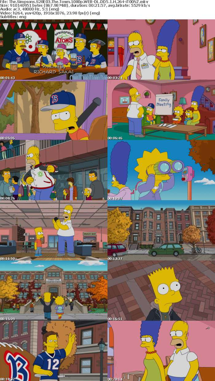 The Simpsons S28E03 The Town 1080p WEB DL DD5 1 H 264 iT00NZ