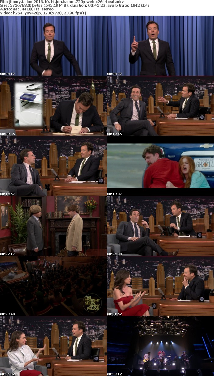 Jimmy Fallon 2016 10 14 Jon Hamm 720p WEB x264-HEAT