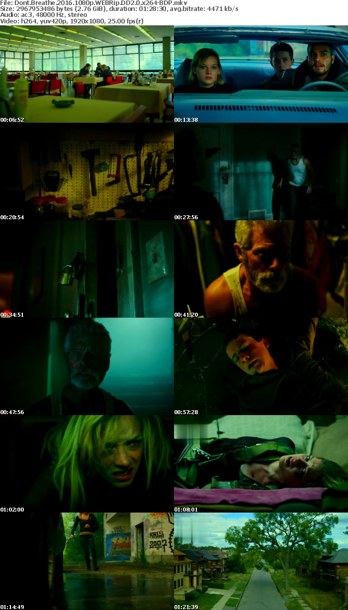 Dont Breathe 2016 1080p WEBRip DD2 0 x264-BDP