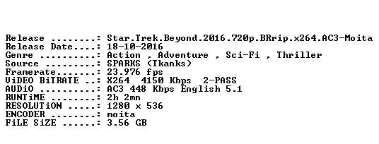 Star Trek Beyond 2016 720p BRrip x264 AC3-moita
