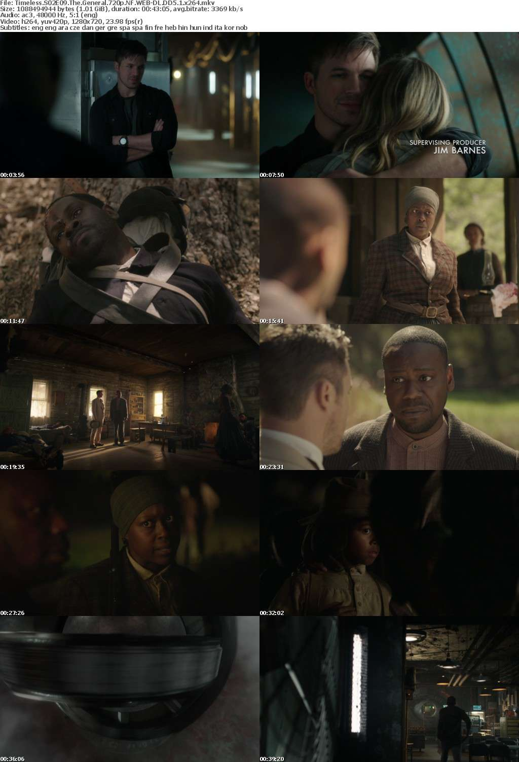 Timeless S02E09 The General 720p NF WEB-DL DD5 1 x264