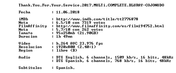 Thank You For Your Service 2017 MULTi COMPLETE BLURAY-COJONUDO