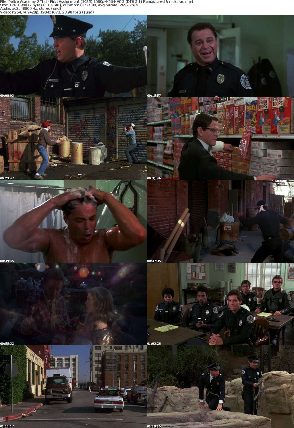 Police Academy 2 Their First Assignment (1985) 1080p BluRay H264 AC 3 Remastered-nickarad